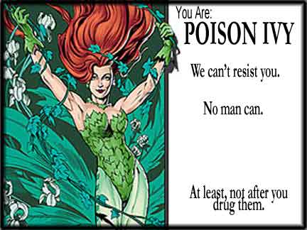 batman poison ivy movie. Which Batman villain are you?