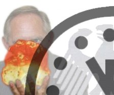 Photo: Schaeuble with a nuke in hand, Doomsday Clock