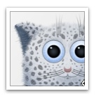 Drawing: thumbnail of Sergej Mueller's ultra kawaii Snow Leopard wallpaper